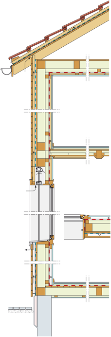 Holzbau detail  Flumroc – Detailschnitte